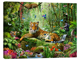 Canvas print  Tiger in the jungle - Adrian Chesterman