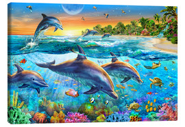 Canvas  Dolphin bay - Adrian Chesterman