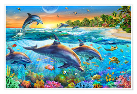 Poster  Dolphin bay - Adrian Chesterman