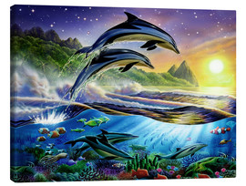 Canvas print  Atlantic dolphins - Adrian Chesterman