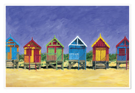 Poster Beach huts