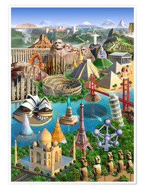 Poster  Wonders Of The World - Adrian Chesterman