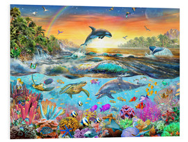 Foam board print  Tropical Paradise - Adrian Chesterman
