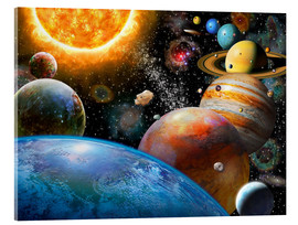 Acrylic print  Planets and Their Moons - Adrian Chesterman