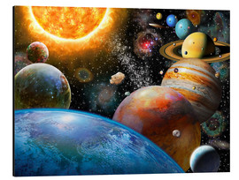 Aluminium print  Planets and Their Moons - Adrian Chesterman