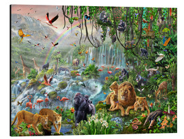 Alu-Dibond  Jungle waterfall - Adrian Chesterman