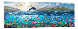 Foam board print  Ocean Panorama - Adrian Chesterman
