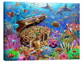 Canvas  Undersea Treasure - Adrian Chesterman
