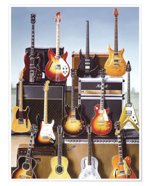 Premium poster  Guitars - Adrian Chesterman