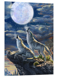 Foam board print  Midnight Wolves - Adrian Chesterman