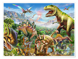 Premium poster Group of Dinosaurs