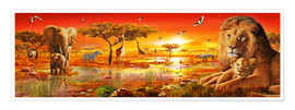 Premium poster Savanna Sundown