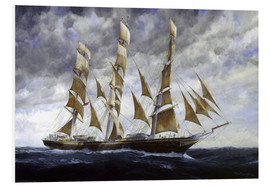 Foam board print  Tea clipper black adder - Francis Mastrangelo