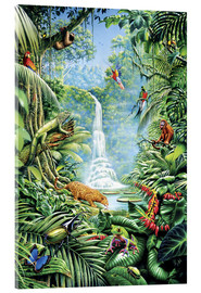 Acrylic print  Save the rainforest - Gareth Williams