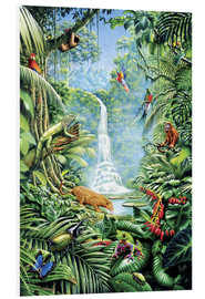 Foam board print  Save the rainforest - Gareth Williams