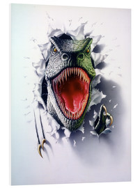 Foam board print  Tyrannosaurus - Gareth Williams