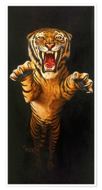 Premium poster Leaping Tiger