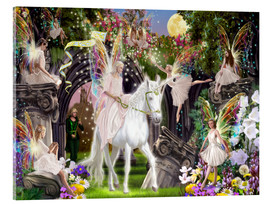 Acrylic print  Fairy Queen with unicorn - Garry Walton
