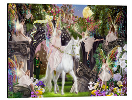 Alu-Dibond  Fairy Queen with unicorn - Garry Walton