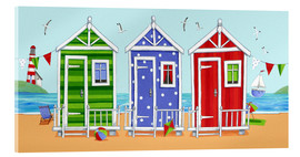 Acrylic glass  Colorful beach huts - Peter Adderley