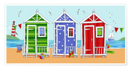 Premium poster  Colorful beach huts - Peter Adderley