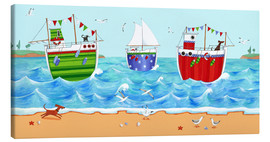 Canvas  Boats - Peter Adderley