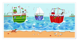 Premium poster  Boats - Peter Adderley