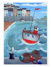 Premium poster  Lobster pot - Peter Adderley