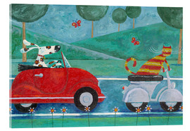 Acrylic print  On The Road With Duke & Sweetpea - Peter Adderley