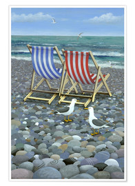 Premium poster Deck Chairs