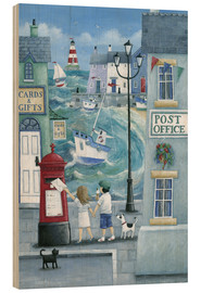 Wood print  Harbour post - Peter Adderley