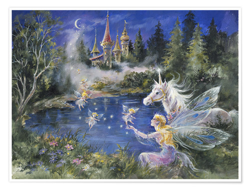 Fairies Visit The Unicorn Posters And Prints