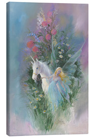 Canvas  Meadow Fairy & Unicorn - Mimi Jobe