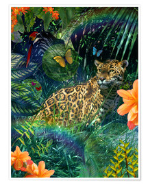 Premium poster Jaguar Meadow