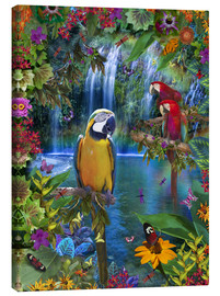 Canvas  Bird Tropical Land - Alixandra Mullins