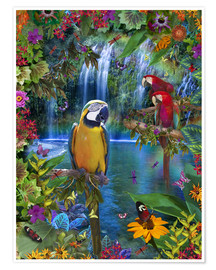 Premium poster  Bird Tropical Land - Alixandra Mullins