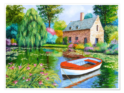 Premium poster The House Pond