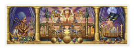 Premium poster Egyptian triptych