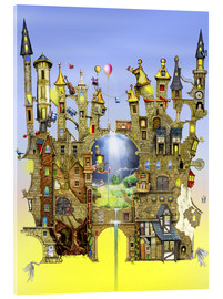 Acrylic print  Castles in the air - Colin Thompson