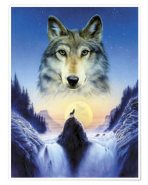 Premium poster  Cosmic wolf - Andrew Farley
