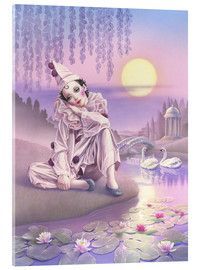 Acrylic print  Pierrot and swans - Andrew Farley