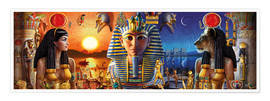 Poster  Egyptian Triptych 2 - Andrew Farley