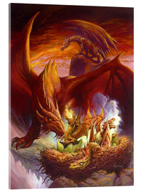 Acrylic print  Children of the Dragon - Jeff Easley