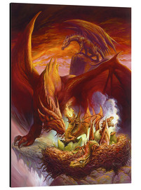 Aluminium print  Children of the Dragon - Jeff Easley