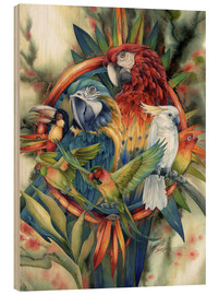 Wood print  Life's many colours - Jody Bergsma