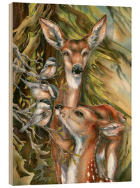 Wood  Deers and birds - Jody Bergsma