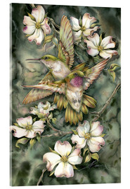Acrylic print  Hummingbirds and flowers - Jody Bergsma