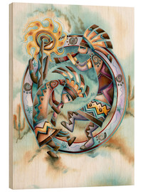 Wood print  Happy dance - Jody Bergsma