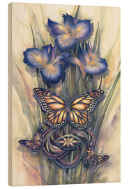 Wood print  A new day has come - Jody Bergsma