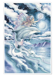 Poster  Wish upon a dolphin star - Jody Bergsma